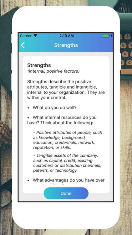 Business S.W.O.T. Analysis