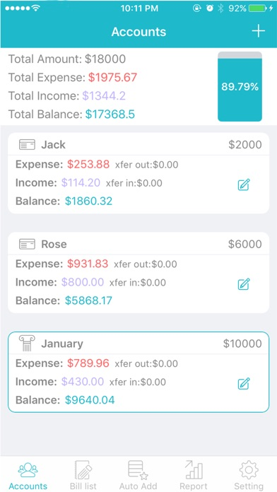 bill list capital flows app price drops