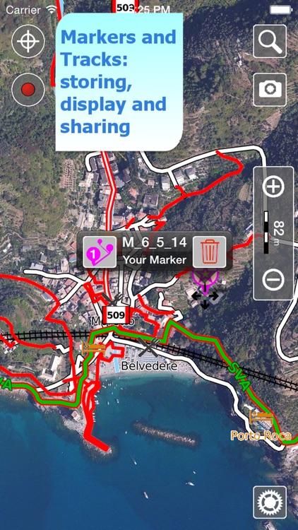 Cinque Terre Trails, Hiker GPS screenshot-3