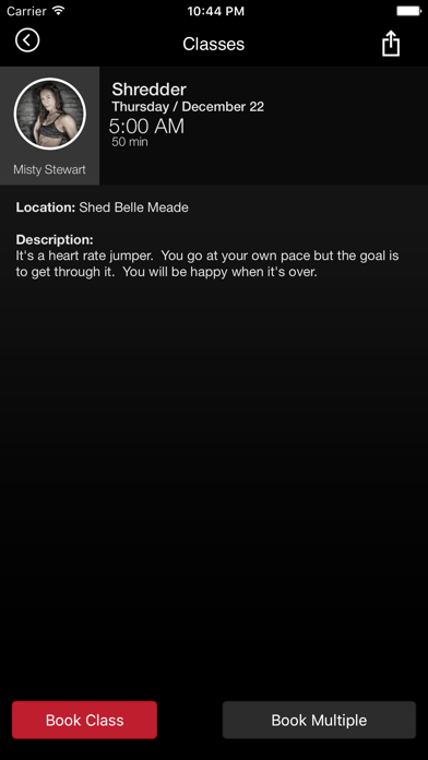 SHED GROUP FITNESS screenshot four