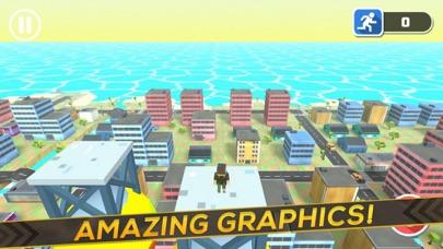 3D Block Man City Puzzle screenshot one