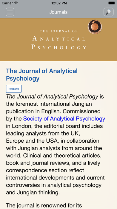 Jrnl of Analytical Psychology screenshot two