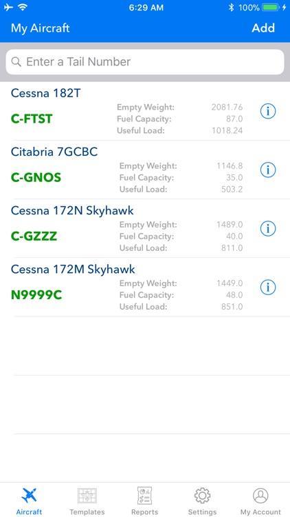Aircraft Weight and Balance screenshot-0