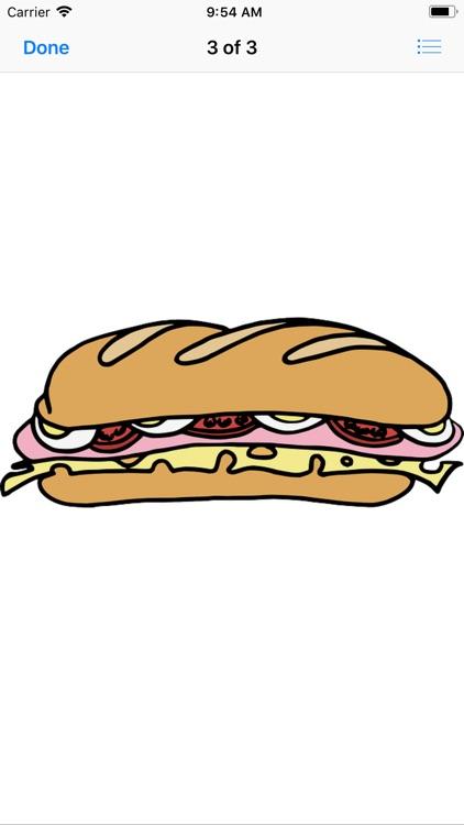 Scrumptious Sandwich Stickers screenshot-3