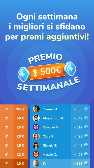 Screenshot for Live Quiz - Vinci Premi Veri in Italy App Store
