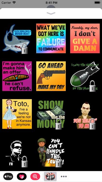 Classic Movie Quotes Stickers