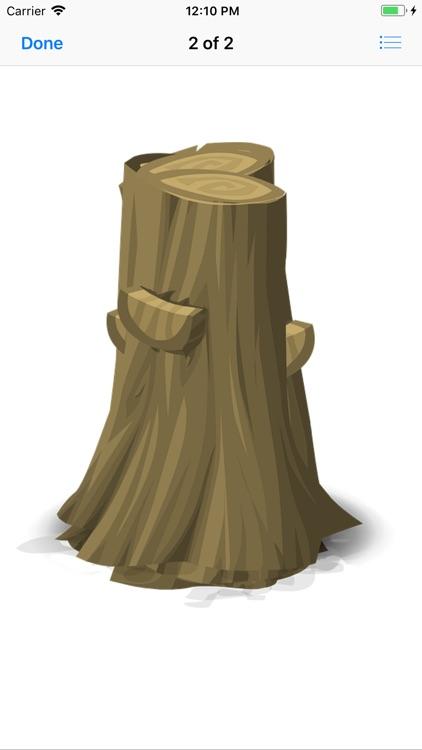 Tree Stump Stickers