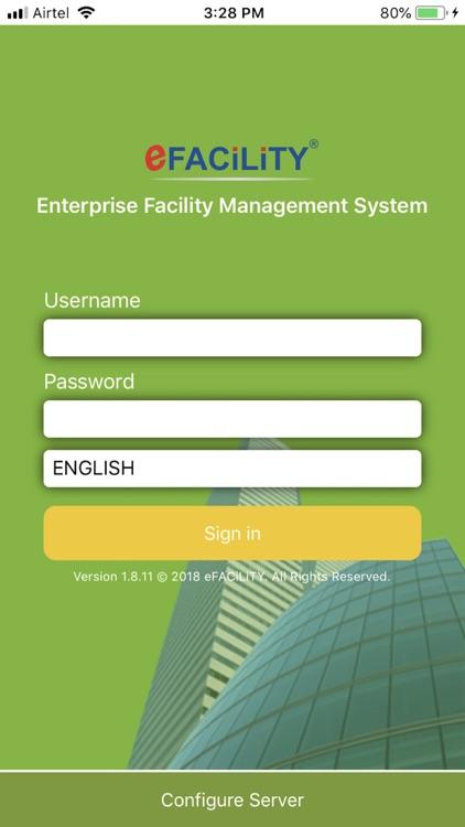 eFACiLiTY® Smart Facility App