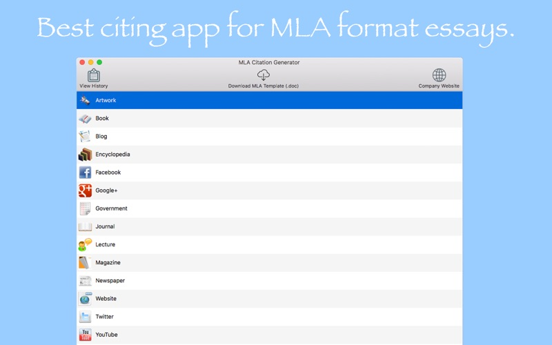 mla format web citation generator