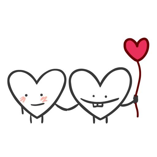 Heart Valentine Stickers
