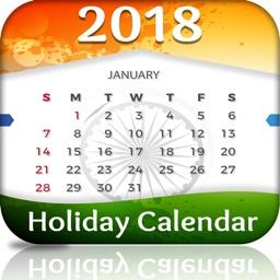 India Holiday Calendar 2018