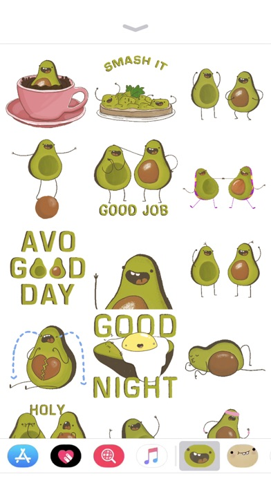 Screenshot #7 for Avocado Stickers