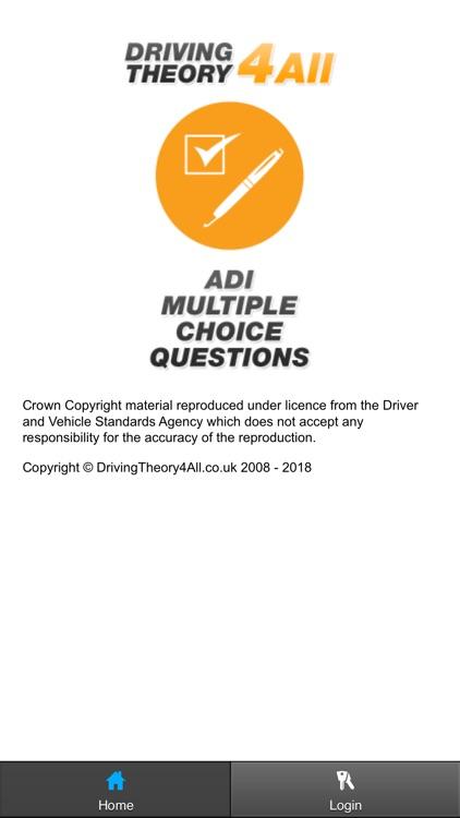 ADI Driving Theory Test 2018