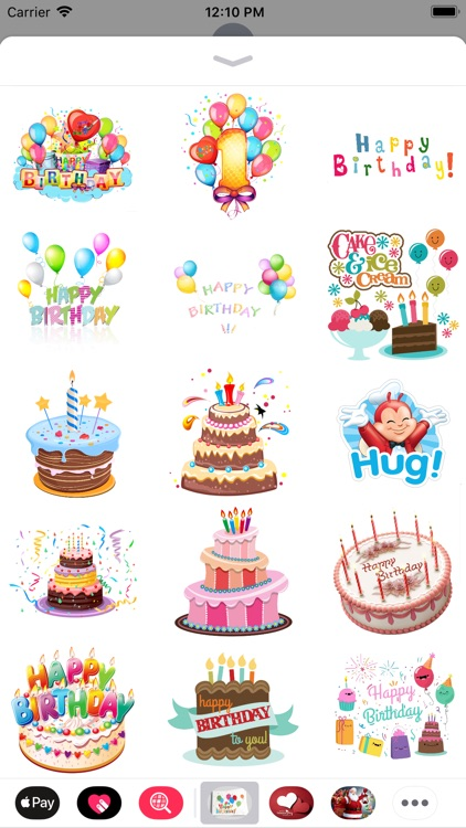 Birthday Stickers - Message
