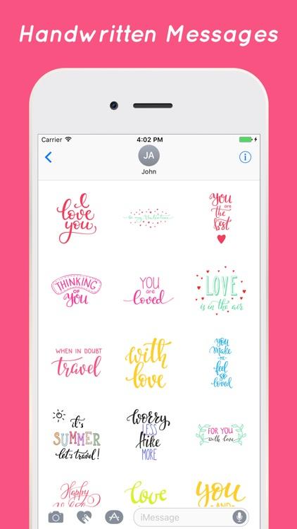 Handwritten Stickers for iMessage