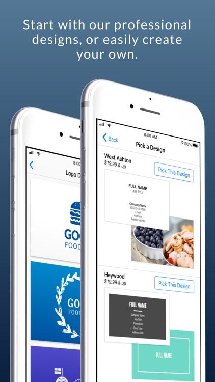 Business Card Maker & Logo App screenshot-3