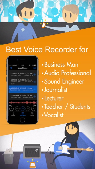 Screenshot for Voice Recorder HD in Sweden App Store