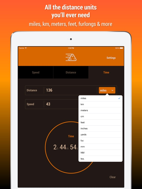 Speed Distance Time Calculator IPA Cracked for iOS Free Download