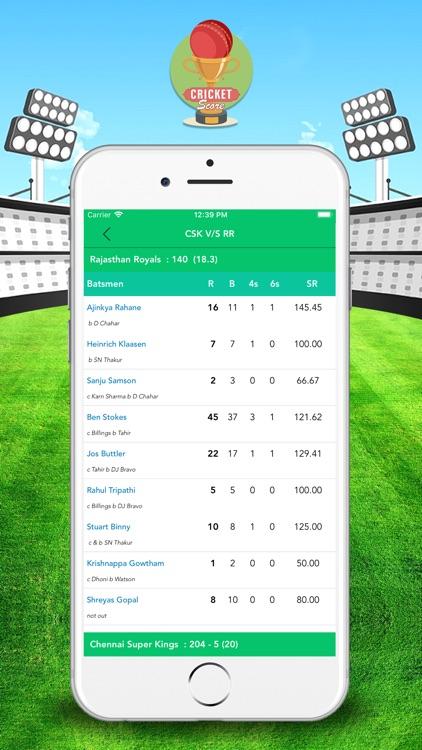 CricketScore: Live Match Score screenshot-4