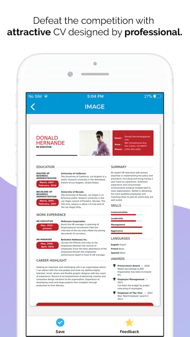 Quick Resume Builder Cv Maker Free Download App For Iphone Steprimo Com