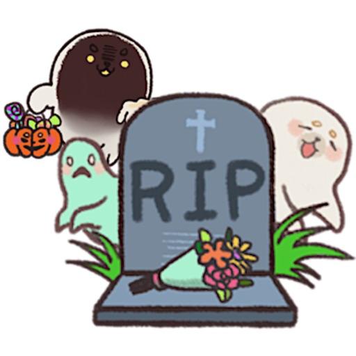Cute Seal In Halloween Sticker