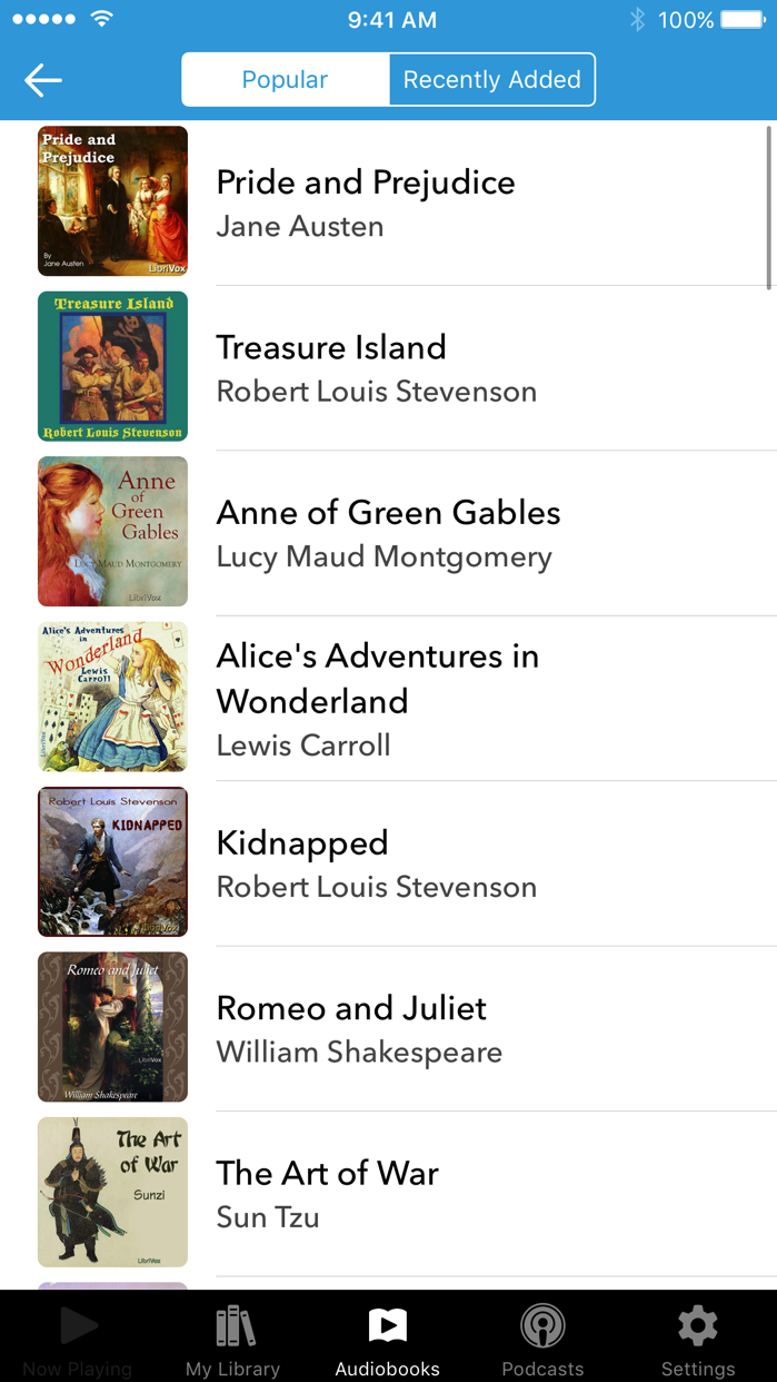 Audiobooks Screenshot