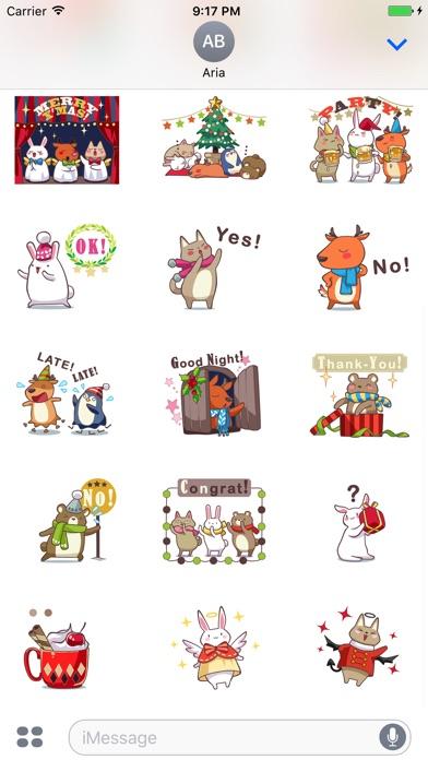 Animated Xmas Party Animals screenshot 2