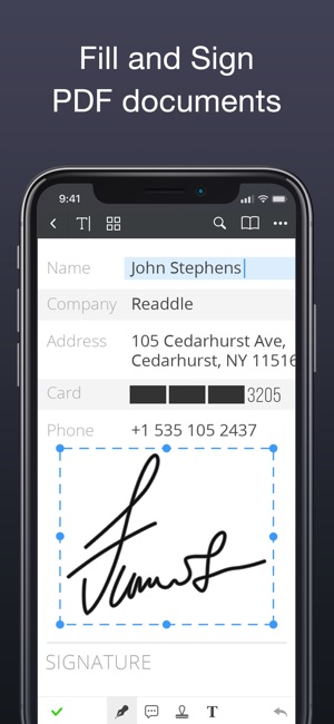 sign a pdf on iphone pdf expert by readdle on the app 18009