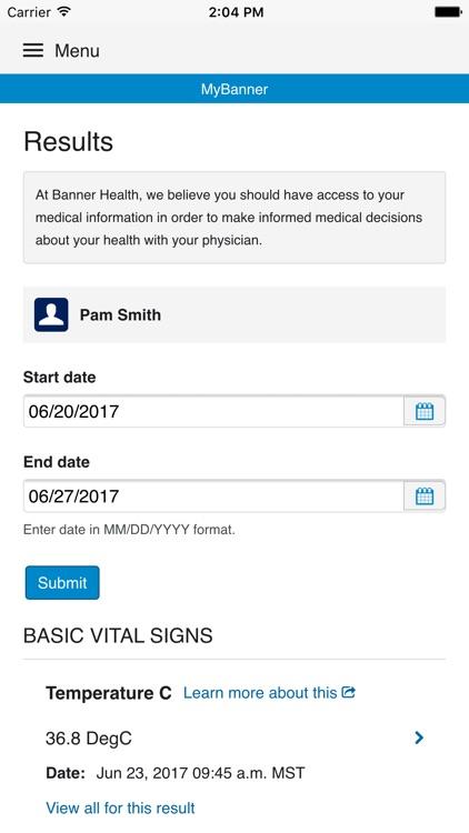 MyBanner Patient Portal screenshot-4