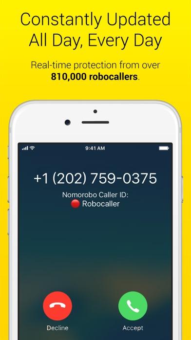 Nomorobo Robocall Blocking app image