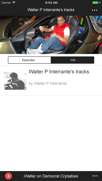 Walter P Interrante's tracks screenshot two