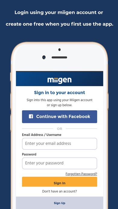 Screenshot for Miigen vCard in United States App Store
