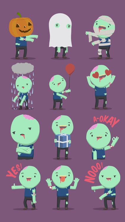 Cute Zombie Stickers