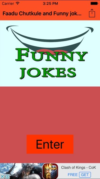Faadu Chutkule and Funny jokes- in Hindi