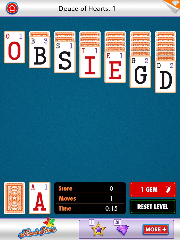 Screenshot #5 for Word Solitaire by PuzzleStars