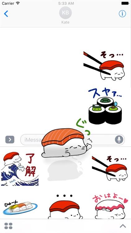 Sleeping Sushi Sticker