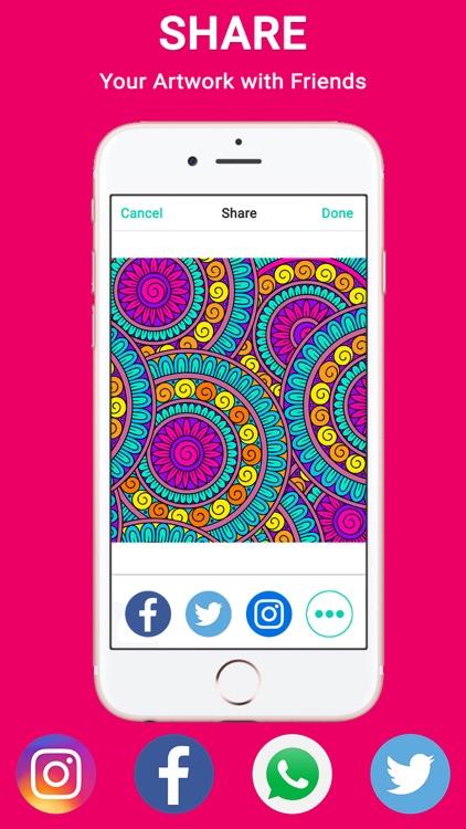 ColorSip Calm Relax Focus Coloring Book for Adults screenshot-3