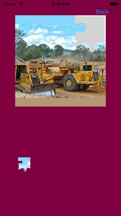 Bulldozer Excavator Jigsaw Puzzles with Backhoe screenshot-4