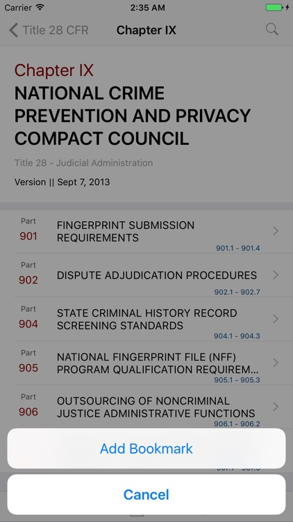 28 CFR - Judicial Administration (LawStack Series) screenshot-2