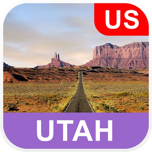 Utah, USA Offline Map - PLACE STARS