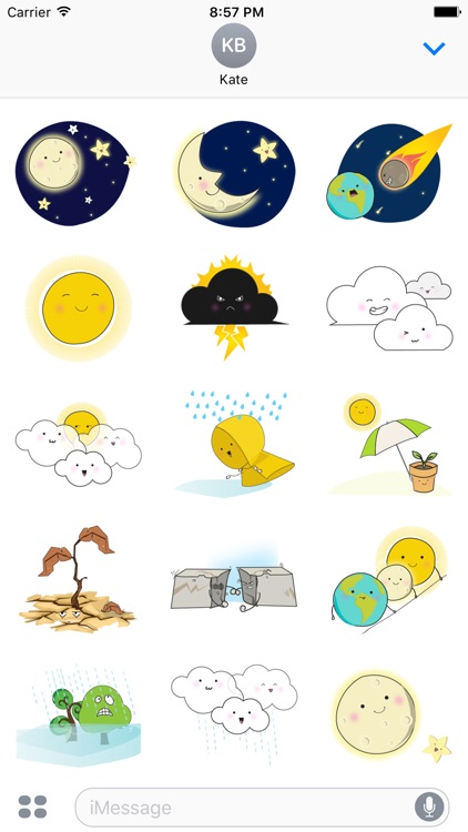 Weathermoji - cute weather stickers pack