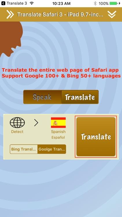 Translate 3 Pro for Safari