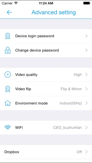 P2P iCamera Screenshot on iOS