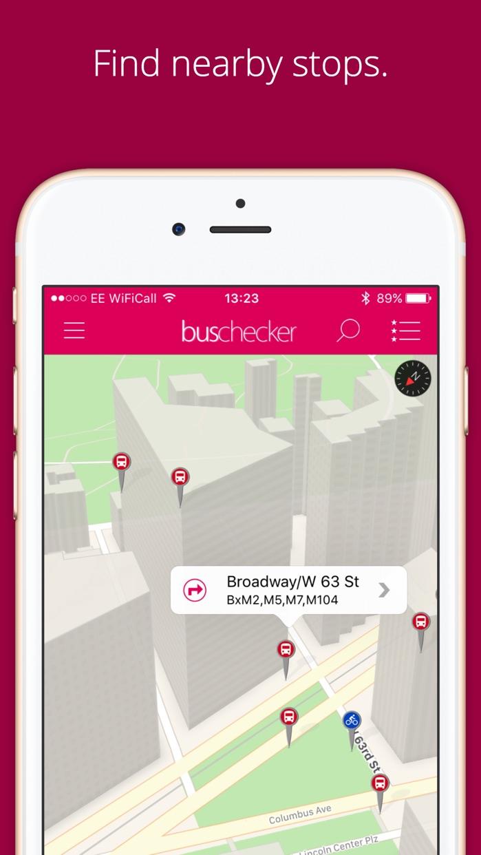 NYC Bus Checker - Live Bus Times for New York City Screenshot