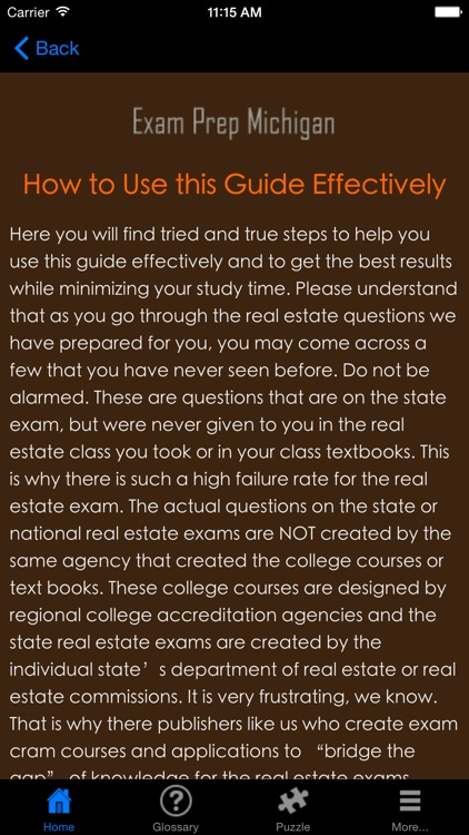 ExamPrepMI Michigan Real Estate Agent Exam Prep. screenshot-3