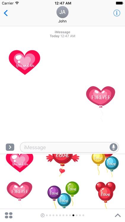 Happy Valentine Stickers