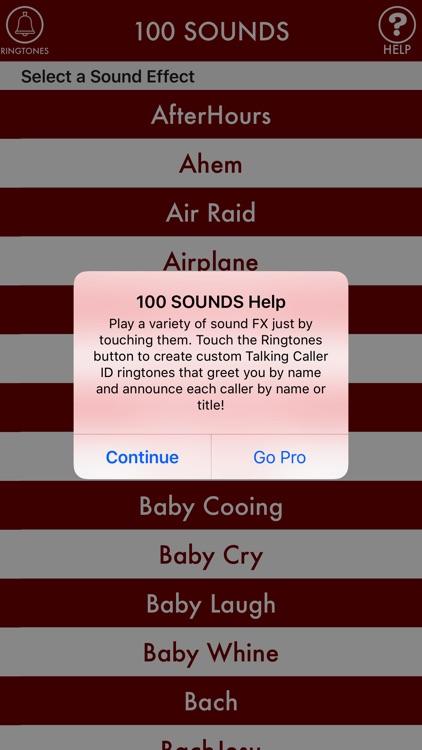 100sounds + RINGTONES! 100+ Ring Tone Sound FX screenshot-3