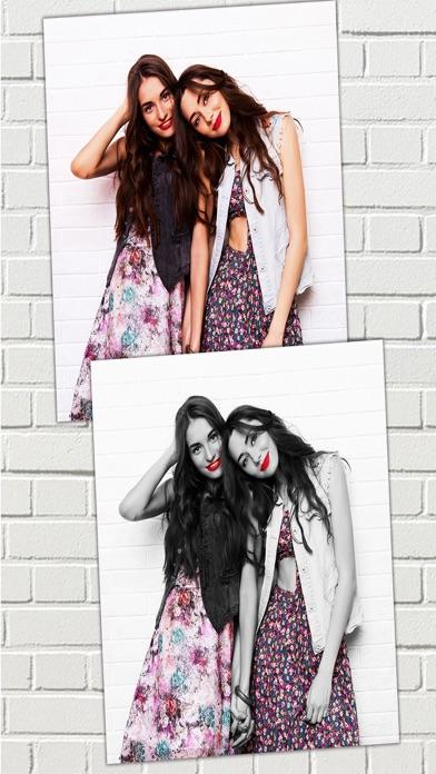 Efectos de color – blanco y negro foto editorCaptura de pantalla de2