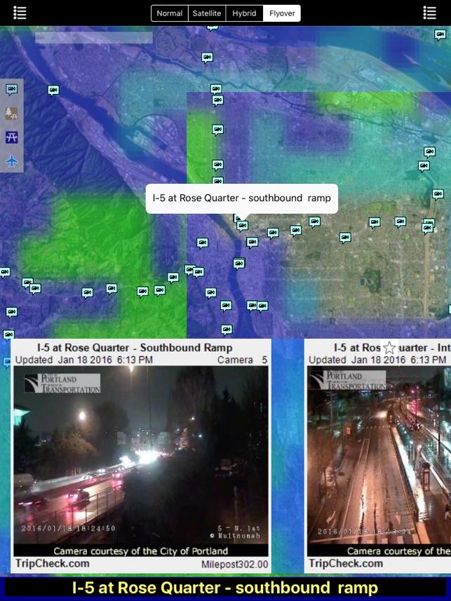 Oregon NOAA Radar with Traffic Cameras