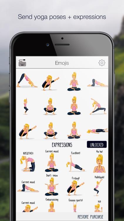 Yogamojis - Yoga Emoji Keyboard and Stickers